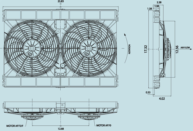 Huntsville Racing :: View topic - flex-a-lite or SPAL fans for cooling