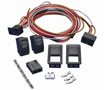 SPAL Universal 2 Door 2 Switch Kit Illuminated Push/Pull