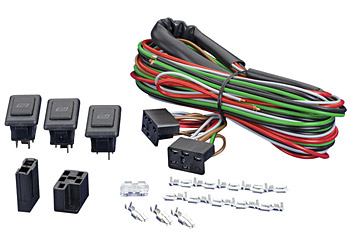 JayCorp Technologies  SPAL    Universal    2 Door 3 Switch    Kit    Illuminated