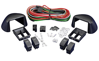 SPAL Universal 2 Door 3 Switch Kit Illuminated Pod Style Push/Pull