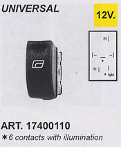 SPAL 6 Contact Illuminated Push/Pull Switch