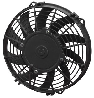 "SPAL 9"" Low Profile Curved Blade 24v Fan"