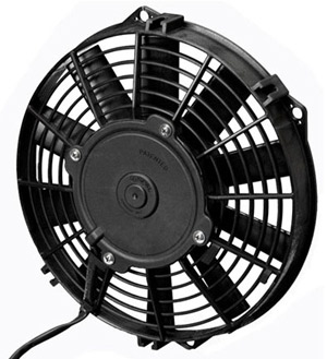 "SPAL 9"" Low Profile Straight Blade 24v Fan"