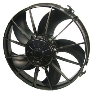 "SPAL 12"" High Performance Curved Blade 24v Fan"